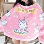 ผ้าคลุมให้นมพร้อมส่ง ลาย Unicorn - Pink