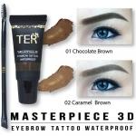 **พร้อมส่ง*TER Masterpiece 3D Eyebrow Tattoo Waterproof คิ้วน้ำแทททู3มิติ ที่เขียนคิ้วเนื้อน้ำ พร้อมแปรงเขียนคิ้วสองหัว เปลี่ยนวิธีเขียนคิ้วแบบเดิมๆ คุณจะพบความสวยคมกริบแบบที่ไม่เคยสัมผัสมาก่อน สีคิ้วสวย สม่ำเสมอ ติดแน่น กันน้ำ ทนสุดทั้งวัน ล้างน้ำถูกันจะ