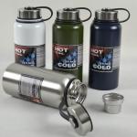 Pre-Order กระบอกน้ำสุญญากาศ กระติกน้ำร้อน กระติกน้ำเย็น สแตนเลส 2 ชั้น พร้อมกระเป๋าสะพาย ขนาดบรรจุ 900 มล. สี่สี สีกรมท่า สีเขียว สีขาว และสีเงิน