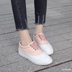รองเท้าผ้าใบแต่งสีทูโทน (ชมพู)