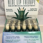 *พร้อมส่ง*Fran Wilson Aloe Lip Therapy Lip Care ลิปว่านหางจระเข้+วิตามินอี ส่วนผสมจากธรรมชาติ 100% ช่วยบำรุงริมฝีปากให้เนียนนุ่มชุ่มชื่น ลดอาการแห้ง แตก เป็นขุย ผิวอักเสบได้เป็นอย่างดี และยังมีกลิ่นหอมนุ่มของวนิลลา เหมือนกลิ่นขนมน่ากินมากๆเลยจ้า ,