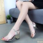รองเท้าส้นตัน Style Maxi (สีทอง)