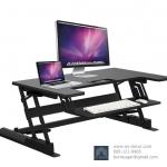 (Pre-order) โต๊ะยืนทำงานปรับระดับ โต๊ะคอมพิวเตอร์ปรับระดับ โต๊ะทำงานคอมพิวเตอร์มืออาชีพ สไตล์โมเดิร์น สีดำ