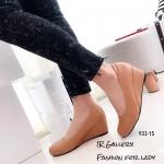รองเท้าคัทชูส้นเตารีดแบบเรียบ (สีแทน)