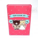 อัลบั้ม 300 รูป Happy Wedding Day ลายหมีคู่ สีชมพู