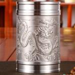 (พรีออเดอร์) แก้วน้ำชาดีบุก ใส่น้ำร้อนน้ำเย็น ดีบุกหล่อรูปเรือ รูปพระราชวัง และรูปมังกร 3 แบบ