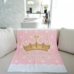 ผ้าห่มเด็ก ใส่ชื่อ ลายเจ้าหญิง สีชมพู / Princess - Pink