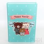 อัลบั้ม 300 รูป Happy Family ลายครอบครัวหมี สีมิ้นท์