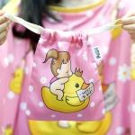 ถุงผ้าซาติน ลาย Ducky and Baby Girl