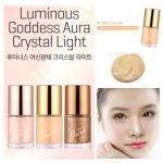 **พร้อมส่ง**Tony Moly Luminous Goddess Aura Crystal Light 10 ml. # 02 Gold Glam สีทองใช้ได้กับทุกสีผิว เป็นสาวแกลมผ่องๆออร่าง่ายๆด้วยครีมไฮไลท์เนื้อสีทองสามารถทาเป็นไฮไลท์ตามจุดสำคัญอย่างหางคิ้วด้านบน โหนกแก้ม หรือทาเบาๆทั้งหน้าเพิ่มความผ่องประกาย ช่วยให้