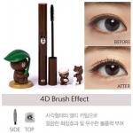 ** พร้อมส่ง**Missha 4D Mascara (Line Friends Edition) แพคเกจหมีน้อยสีน้ำตาล Brown มาสคาร่า 4D สร้างมิติให้กับขนตาของคุณให้เด่นชัดทะลุมิติออกมาเด้งกันเลย หัวแปรงเป็นลักษณะสี่เหลี่ยม จะช่วยทำให้ขนตาหนาขึ้น ขนตาเรียงตัวหนาขึ้น เหมาะกับสาวๆที่มีขนตาบางและอยา