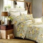 (Pre-order) ชุดผ้าปูที่นอน ปลอกหมอน ปลอกผ้าห่ม ผ้าคลุมเตียง ผ้าฝ้ายอเมริกาพิมพ์ลายดอกไม้สไตล์วินเทจ โทนสีเขียว