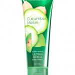 **พร้อมส่ง**Bath & Body Works Cucumber Melon 24 Hour Moisture Ultra Shea Body Cream 226g. ครีมบำรุงผิวสุดเข้มข้น มีกลิ่นหอมติดทนนาน ด้วยกลิ่นเมลอน เป็นกลิ่นแนวสดชื่น หอมอ่อนๆ ใช้ได้ทั้งชายและหญิง ,