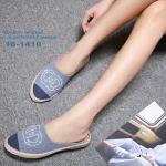 รองเท้า Chanel Espadrilles รุ่นเปิดส้น (สียีนส์)