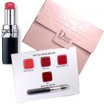 *พร้อมส่ง**ขนาดทดลอง Dior Rouge Baume Sample Set พาเลทลิปสติก 4 เฉดสีรุ่นใหม่ สีสวยติดทนมาพร้อมแปรงทาลิปน่ารัก แพคเกจมีแม่เหล็กปิดล๊อกอย่างดีใช้ง่ายพกพาสะดวก 468 Spring ส้มพีชประกาย 558 Lili ชมพูอมส้ม 688 Diorette ชมพู 999 Rouge Dior แดงสด