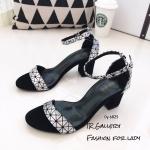 รองเท้ารัดข้อสไตล์ BaoBao (สีเงิน)