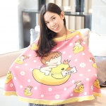 ผ้าคลุมให้นม สั่งทำใส่ชือ ลาย Ducky and Baby Girl - Pink