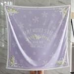 ผ้าพันคอ ลาย Jasmine - Bow - Lavender สั่งทำใส่ชื่อ