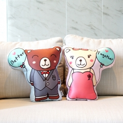 หมอนหมี 2in1 Couple Teddy Pillow