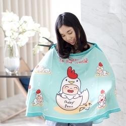 ผ้าคลุมให้นม สั่งทำใส่ชือ ลาย Kook Kai - Mint