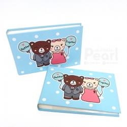 อัลบั้มจุ 50 รูป ลายหมีคู่ สีฟ้า Better Together