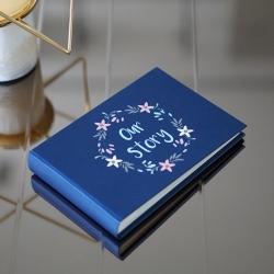 อัลบั้มจุ 50 รูป สีกรม ลาย Floral Frame - Our Story