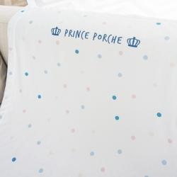 ผ้าห่มเด็ก สั่งทำใส่ชื่อ ลาย Mini dot - White