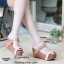 รองเท้าส้นเตารีดทูโทนสไตล์ลำลอง (สีดำ) thumbnail 4