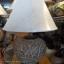 โคมไฟตั้งโต๊ะ ทำจากแจกันดินเผาด่านเกวียน แกะลายใบไม้ ทรงกระบอก สีโคลนน้ำตาล-แดง thumbnail 1