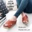 รองเท้าส้นเตารีดสวมไข้ว (สีแทน) thumbnail 1