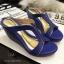 พร้อมส่ง : รองเท้าส้นเตารีด Golden Metalic Platform (สีน้ำตาล) thumbnail 3