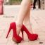 รองเท้าส้นสูงแต่งอะไหล่ทอง (สีดำ) thumbnail 4