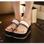 พร้อมส่ง : รองเท้าส้นเตารีดแบบลำลอง (สีขาว) thumbnail 2