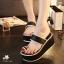 พร้อมส่ง : รองเท้าส้นเตารีดแบบลำลอง (สีดำ) thumbnail 1