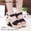 พร้อมส่ง : รองเท้าส้นสูงสไตล์เกาหลี (สีดำ) thumbnail 2