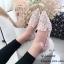 รองเท้าคัทชูต่อผ้าหลากสี (สีดำ) thumbnail 5