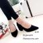 รองเท้าคัทชูส้นตันทรงหุ้มส้น (สีดำ) thumbnail 2