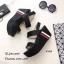 รองเท้าส้นเตารีดเมจิกเทปแต่งลาย (สีดำ) thumbnail 4