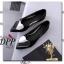 รองเท้าคัทชูส้นแบนแต่งหัวใจ (สีดำ) thumbnail 3