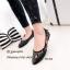 รองเท้าส้นแบนลายดอก Style Gucci (สีดำ) thumbnail 1