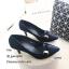 รองเท้าคัทชูซาตินแต่งอะไหล่ (สีกรม) thumbnail 3