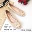 รองเท้าคัทชูส้นแบน Style Dior (สีครีม) thumbnail 1