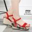 รองเท้าส้นเตารีด Platform GC (สีแดง) thumbnail 3