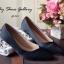 พร้อมส่ง : รองเท้าคัชชูผ้าซาติน (สีดำ) thumbnail 1