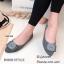 รองเท้าคัทชูส้นแบน Style Dior (สีครีม) thumbnail 6