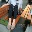 รองเท้าคัทชูหัวแหลมแต่งโบว์ (สีดำ) thumbnail 8