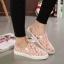 พร้อมส่ง : รองเท้าผ้าใบลูกไม้ทรงLoafer (สีชมพูโอลด์โรส) thumbnail 1