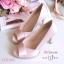 รองเท้าคัทชูซาตินเปิดเท้า (สีครีม) thumbnail 1