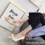 รองเท้าคัทชูซาตินแต่งโบว์ (สีครีม) thumbnail 3