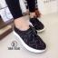 รองเท้าผ้าใบลูกไม้ทรง Sport (สีดำ) thumbnail 2